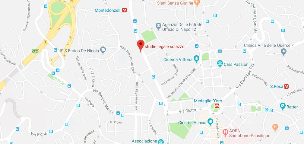 Studio Legale Solazzo - Siamo a Napoli in via Pietro Castellino 91